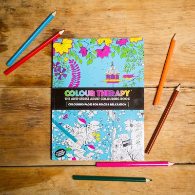 Bücher - Malbuch Farb-Therapie gegen Stress
