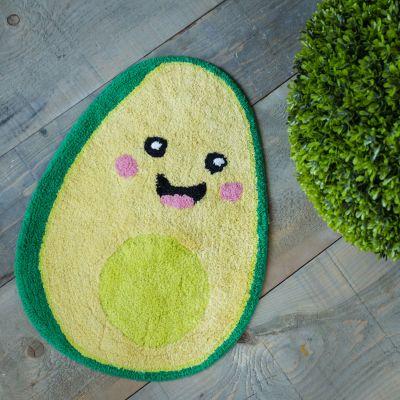 Weihnachtsgeschenke für Frauen - Happy Avocado Badezimmerteppich