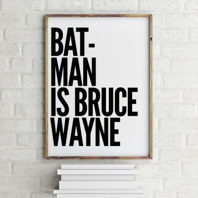 Film & Serien - Poster Batman Is Bruce Wayne by MottosPrint