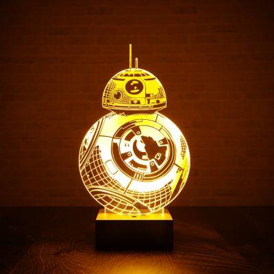Geburtstagsgeschenk zum 20. - Star Wars BB-8 Leuchte mit 3D-Effekt