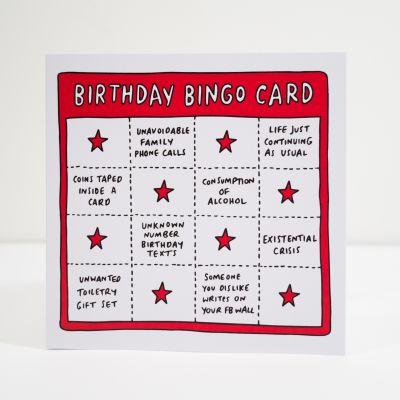 Geschenk für Freund - Geburtstagskarte Birthday Bingo
