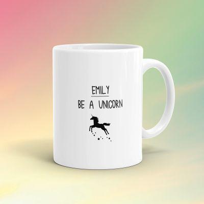 Geschenke für Frauen - Personalisierbare Einhorn-Tasse