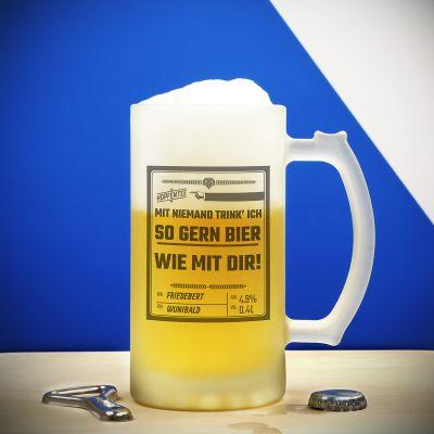 Geburtstagsgeschenk für Freund - Personalisierbarer Bierkrug