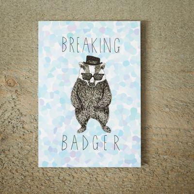 Karten - Grußkarte Breaking BADger