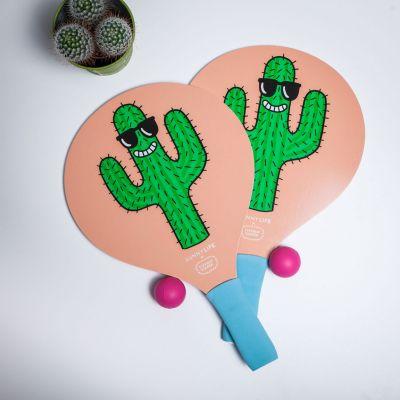 Geburtstagsgeschenk zum 18. - Cooles Kaktus Paddle-Tennis-Set
