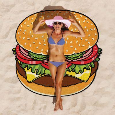 Witzige Geschenke - Cheeseburger Strandtuch