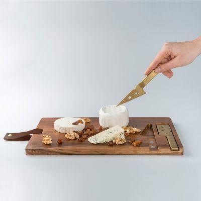 Retrokram - Käse-Schneidebrett mit Käsemessern