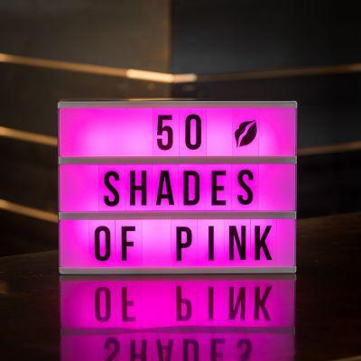Geburtstagsgeschenk zum 20. - Tischleuchte Kino Leuchtreklame mit Farbwechsel