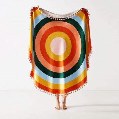 NEUES - Riesiges Handtuch Farbenkreis mit Quasten