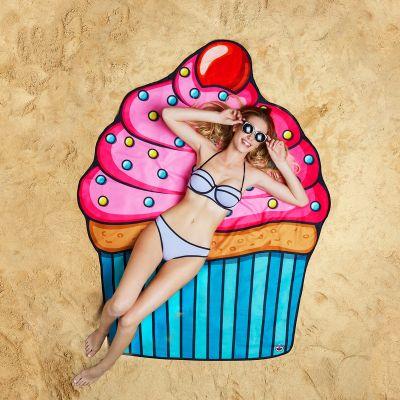 Witzige Geschenke - Cupcake Strandtuch