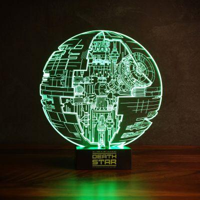 Film & Serien - Star Wars Todesstern Leuchte mit 3D Effekt