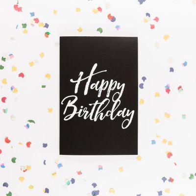 Vatertagsgeschenke - Die endlose Geburtstagskarte mit Glitter