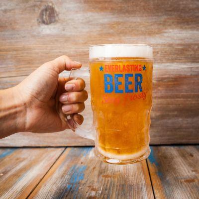 Geschenk für Freund - Immervolles Bierglas