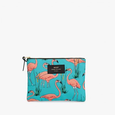 Accessoires - Eleganter Flamingo Beutel