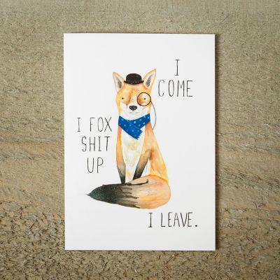 Karten - Grußkarte Fox Shit Up