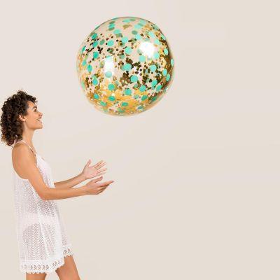 Wohnen - Riesen Glitzer Strandball