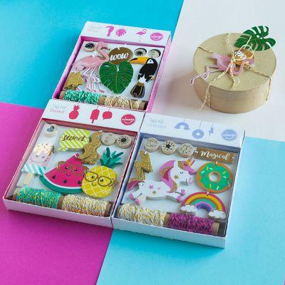 Kleine Geschenke - Fröhliche Geschenkanhänger Sets