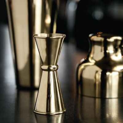 An der Bar - Doppel-Messbecher in Gold