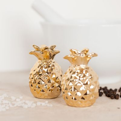 Weihnachtsgeschenke für Mama - Gold Ananas Salz- und Pfefferstreuer