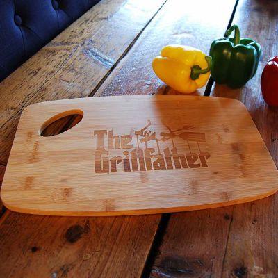 Vatertagsgeschenke - The Grillfather Schneidebrett