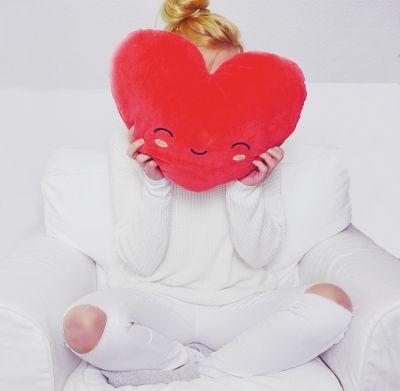 Abschiedsgeschenk - Beheizbares Herz-Kissen
