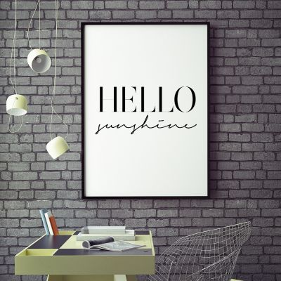 Poster - Poster Hello Sunshine by MottosPrint
