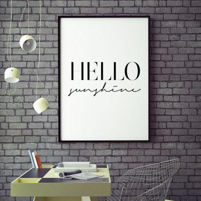 Geschenke für Schwester - Poster Hello Sunshine by MottosPrint