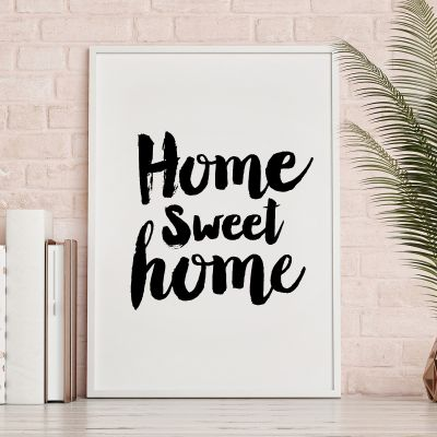 Poster - Poster Home Sweet Home by MottosPrint