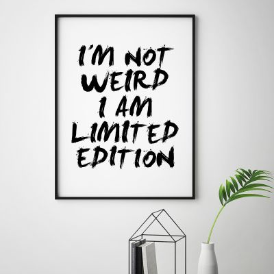 Exklusiv bei uns - Poster I Am Limited Edition by MottosPrint