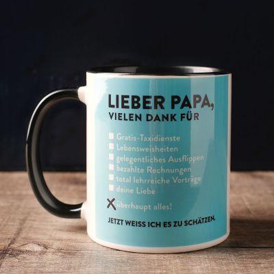Vatertagsgeschenke - Lieber Papa Tasse