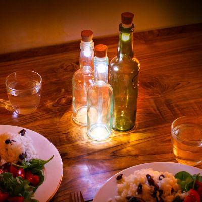 Weihnachtsgeschenke für Frauen - LED Flaschenlichter mit USB