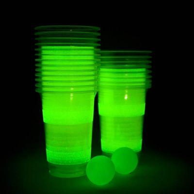 Spiel & Spass - Leuchtendes Beer Pong Spiel