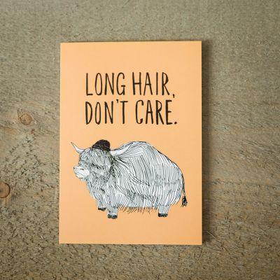 Karten - Grußkarte Long Hair
