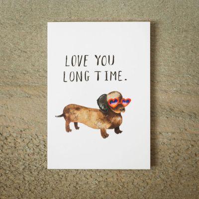 Karten - Grußkarte Love You Long Time