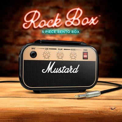Sale - Mustard Rock & Roll Lunchbox