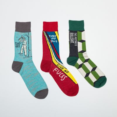 Homewear - Männer-Socken mit markigen Sprüchen