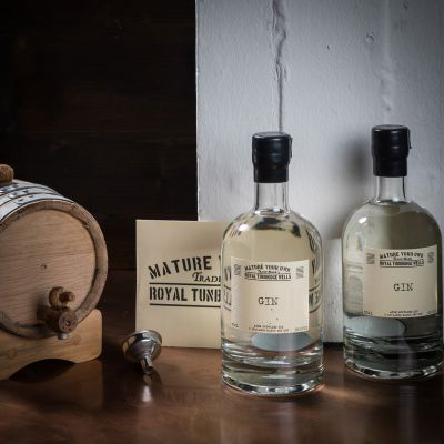 Vatertagsgeschenke - Gin selbst reifen lassen - Set mit Eichenfass