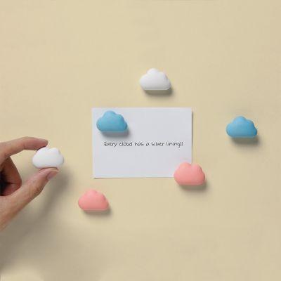 Adventskalender füllen - Wolken Magnete