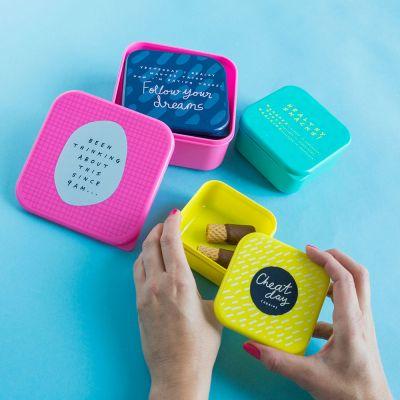 Geburtstagsgeschenk zum 30. - Notes To Self Stapelbare Lunchboxen 4er Set