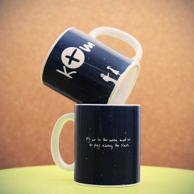 Weihnachtsgeschenke für Frauen - Personalisierbare Weltall Tasse