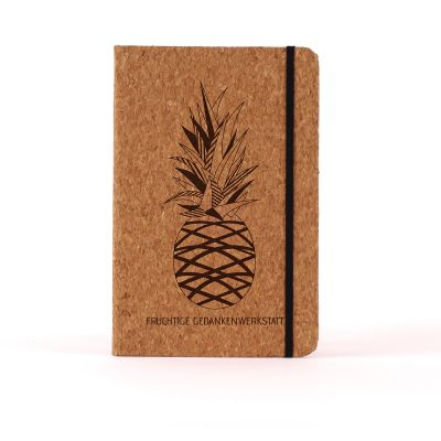 Personalisierte Notizbücher - Personalisierbares Kork-Notizbuch - Ananas