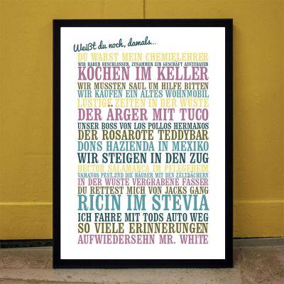 Muttertagsgeschenke - Weißt du noch, damals... - Personalisiertes Poster