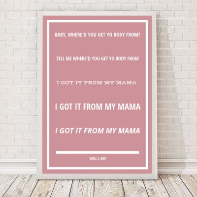 Geschenke für Frauen - Songtexte - Personalisierbares Poster