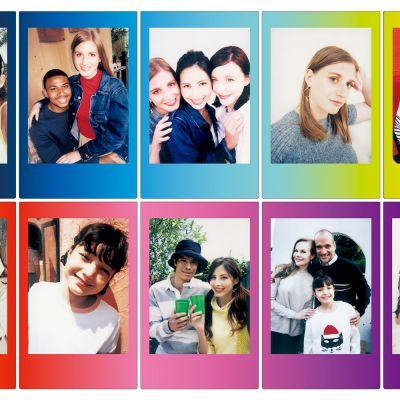Geschenke für Frauen - Fuji Instax Filme mit farbigen Rahmen