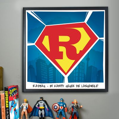Geschenke für Bruder - Superman - Personalisierbares Poster