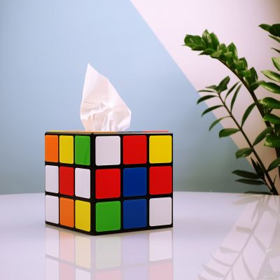 Witzige Geschenke - Rubiks Würfel Taschentuchbox aus Big Bang Theory