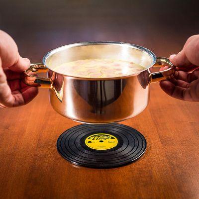 Küche & Grill - Schallplatten Topfuntersetzer
