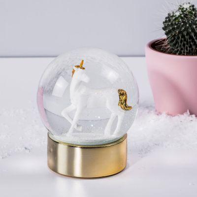 Spielzeug - Einhorn Schneekugel