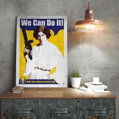NEUES - Star Wars Metallposter - Leia