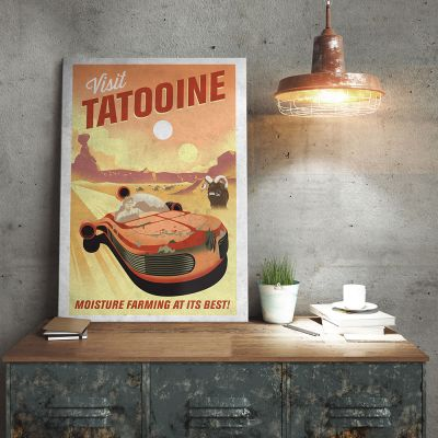 NEUES - Star Wars Metallposter - Tatooine